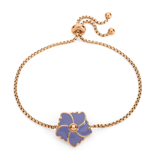 Bloom Bliss Rose Gold Plated Ρυθμιζόμενο Βραχιόλι-
