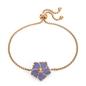 Bloom Bliss Rose Gold Plated Adjustable Bracelet-