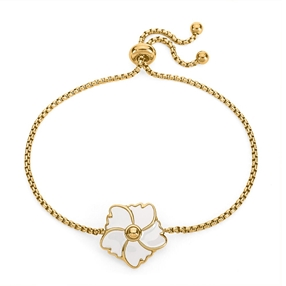 Bloom Bliss Yellow Gold Plated Adjustable Bracelet-