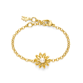 Dainty World Silver 925 18k Yellow Gold Plated Βραχιόλι-