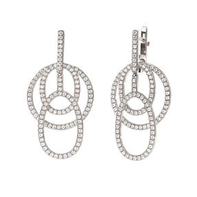 Fashionably Silver Temptation Long Earrings-