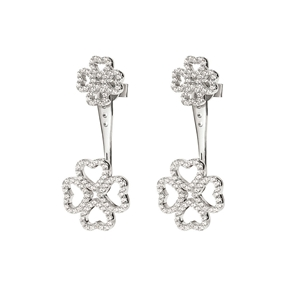 Miss Heart4Heart Adjustable Silver 925 Earrings-