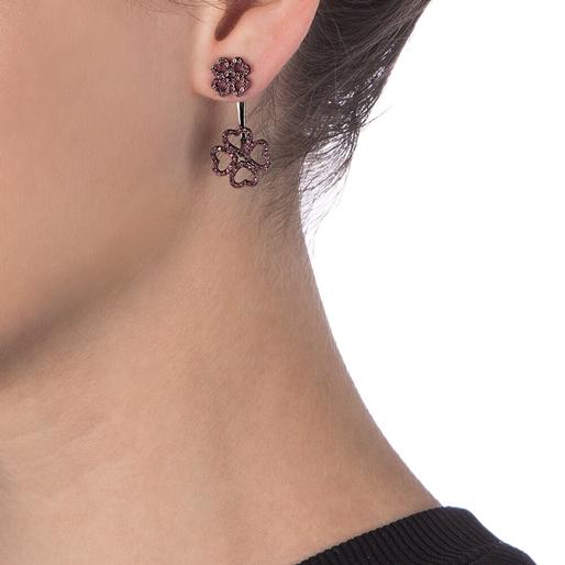 Miss Heart4Heart Adjustable Black Plated Earrings-