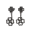 Miss Heart4Heart Adjustable Black Flash Plated Earrings