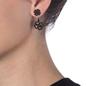 Miss Heart4Heart Adjustable Black Flash Plated Earrings-