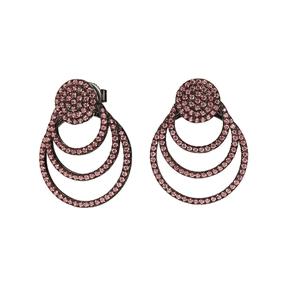 Cyclos Black Flash Plated Short Earrings-