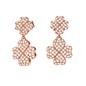 Heart4Heart Rose Gold Plated Short Earrings-