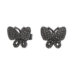 Wonderfly Black Flash Plated Stud Earrings-