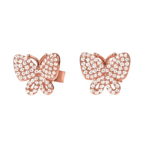 Wonderfly Rose Gold Plated Stud Earrings-