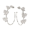 Wonderfly Silver 925 Hoop Earrings