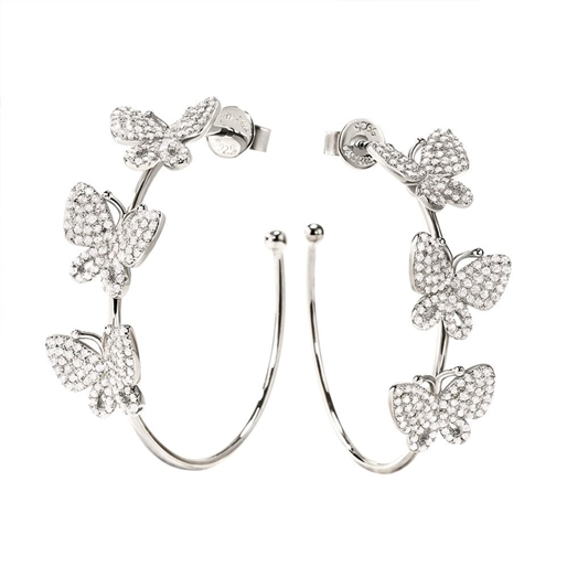 Wonderfly Silver 925 Hoop Earrings-
