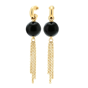 Style Stories Yellow Gold Plated Long Earrings-