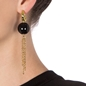 Style Stories Yellow Gold Plated Μακριά Σκουλαρίκια-