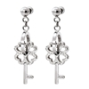 On Key Silver Plated Short Earrings