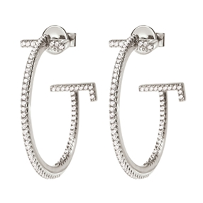 My FF Silver 925 Small Hoop Earrings-