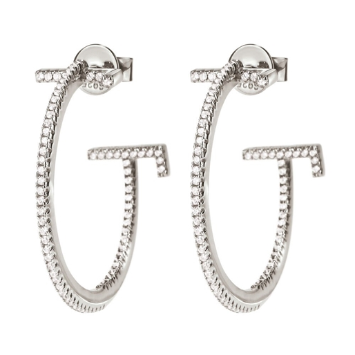 My FF Silver 925 Small Hoop Earrings-