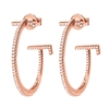 My FF Rose Gold Plated Small Hoop Earrings