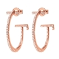 My FF Rose Gold Plated Small Hoop Earrings-
