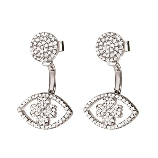 Heart4Heart Mati Silver 925 Short Earrings -