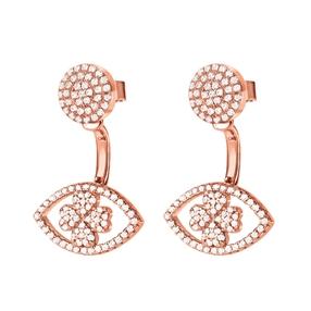 Heart4Heart Mati Rose Gold Plated Short Earrings-