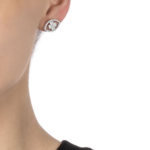Heart4Heart Mati Silver 925 Stud Earrings -