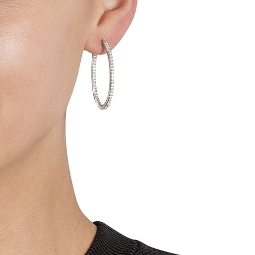 The Essentials Silver 925 Small Hoop Earrings-