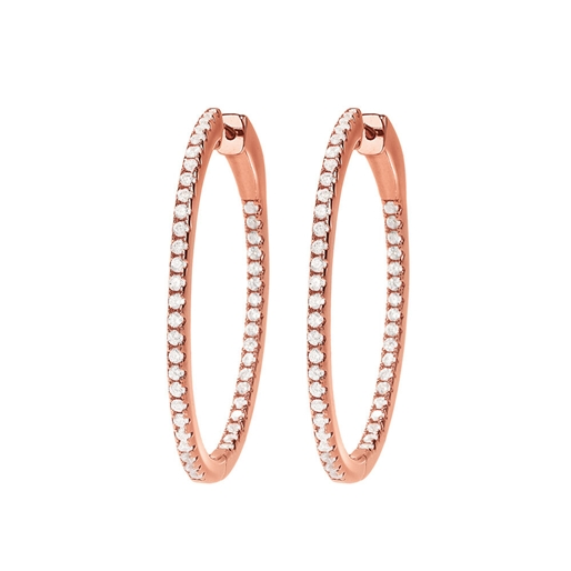 The Essentials Rose Gold Plated Small Hoop Earrings-