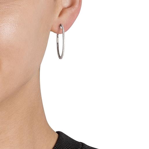 The Essentials SIlver 925 Medium Hoop Earrings-