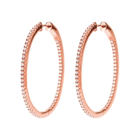 The Essentials Rose Gold Plated Medium Hoop Earrings-
