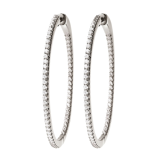 The Essentials Silver 925 Large Hoop Earrings-