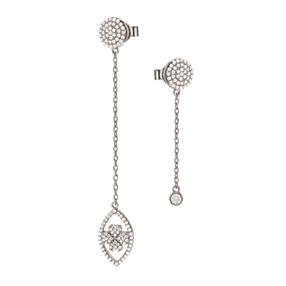 Heart4Heart Mati Silver 925 Earrings-
