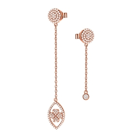 Heart4Heart Mati Silver 925 Rose Gold Plated Σκουλαρίκια-