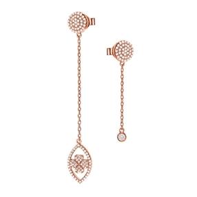 Heart4Heart Mati Silver 925 Rose Gold Plated Σκουλαρίκια-