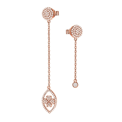 Heart4Heart Mati Silver 925 Rose Gold Plated Earrings-