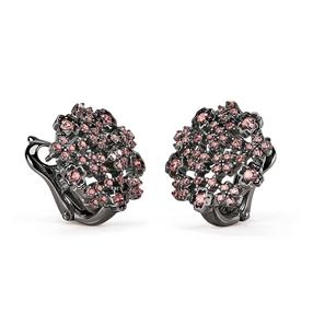 FF Bouquet Silver 925 Black Plated Stud Earrings-