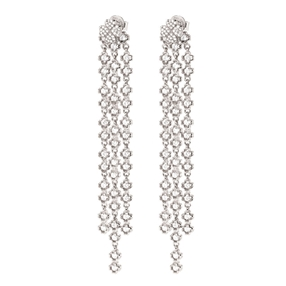 Miss Heart4Heart Silver 925 Rhodium Plated Multi Wear Μακριά Σκουλαρίκια-