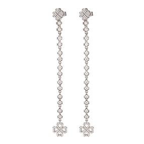 Miss Heart4Heart Silver 925 Rhodium Plated Multi Wear Long Earrings-