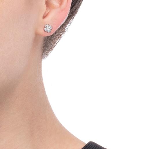 Miss Heart4Heart Silver 925 Rhodium Plated Multi Wear Μακριά Σκουλαρίκια-