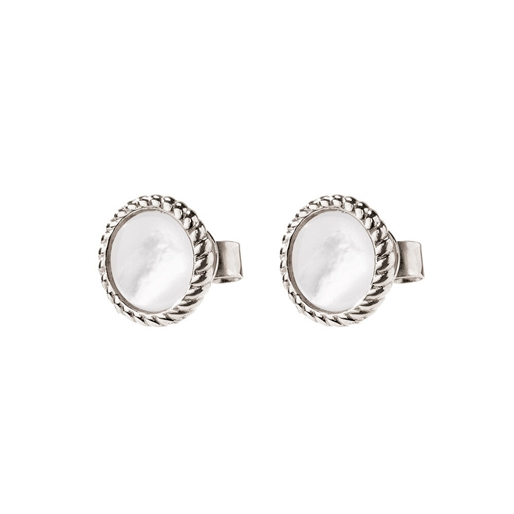 Heart4Heart Mirrors Silver 925 Rhodium Plated Κοντά Σκουλαρίκια-
