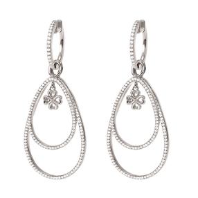 Miss Heart4Heart Silver 925 Rhodium Plated Multi Wear Earrings-
