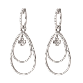 Miss Heart4Heart Silver 925 Rhodium Plated Multi Wear Σκουλαρίκια-