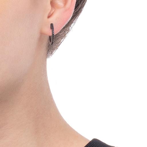 Miss Heart4Heart Silver 925 Black Plated Multi Wear Σκουλαρίκια-