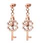 On Key Rose Gold Plated Short Earrings -