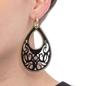Desire Drops Black Acrylic Large Earrings-