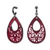 Desire Drops Red Acrylic Medium Earrings