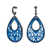 Desire Drops Blue Acrylic Medium Earrings