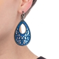 Desire Drops Blue Acrylic Μεσαία Σκουλαρίκια-