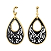 Desire Drops Black Acrylic Medium Earrings