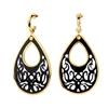 Desire Drops Black Acrylic Medium Earrings
