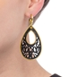 Desire Drops Black Acrylic Medium Earrings-